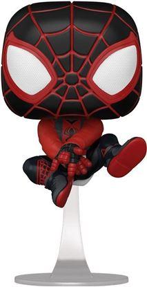 Picture of Marvel's Spider-Man POP! Games Vinyl Figura Miles Morales Bodega Cat Suit 9 cm