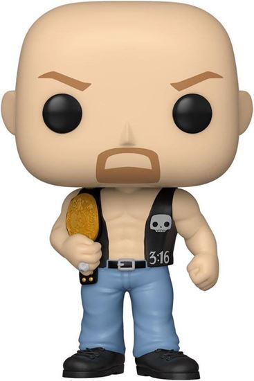 Picture of WWE POP! Vinyl Figura SC Steve Austin w/Belt 9 cm. DISPONIBLE APROX: JUNIO 2021