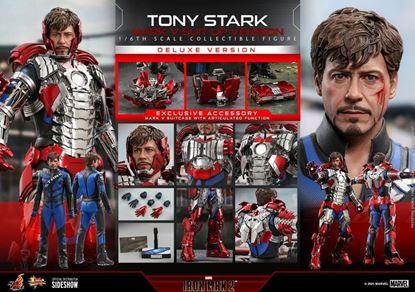 Picture of Iron Man 2 Figura Movie Masterpiece 1/6 Tony Stark (Mark V Suit Up Version) Deluxe 31 cm