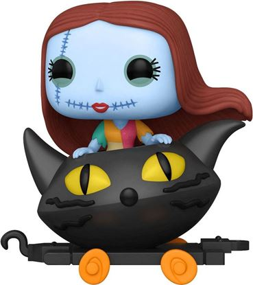 Picture of Pesadilla antes de Navidad Figura POP! Disney Train Cart Vinyl Sally in Cat Cart 9 cm