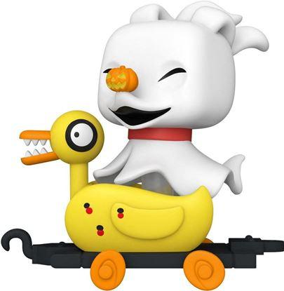 Picture of Pesadilla antes de Navidad Figura POP! Disney Train Cart Vinyl Zero in Duck Cart 9 cm