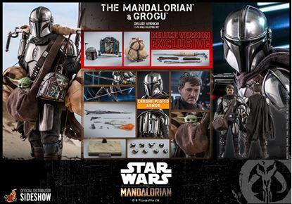 Picture of Star Wars The Mandalorian Pack de 2 Figuras 1/6 The Mandalorian & Grogu Deluxe Version 30 cm