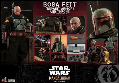 Picture of Star Wars The Mandalorian Figura 1/6 Boba Fett (Repaint Armor) and Throne 30 cm