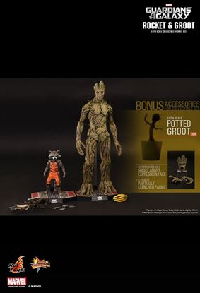 Picture of Hot toys pack Groot y Rocket Guardians of the Galaxy