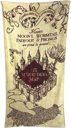 Picture of Toalla de Playa Mapa del Merodeador - Harry Potter
