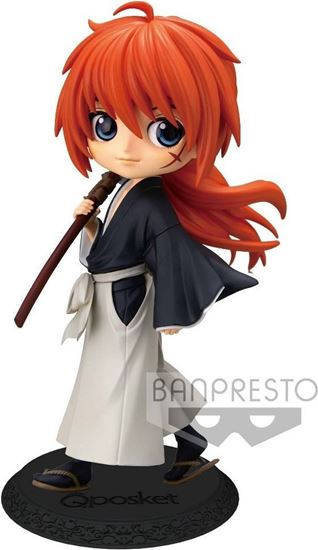 Picture of Figura Q Posket Kenshin Himura - Rurouni Kenshin - Version B 14 cm