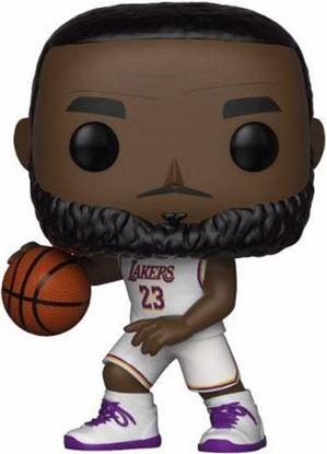 Picture of NBA POP! Sports Vinyl Figura LeBron James White Uniform (Lakers) 9 cm