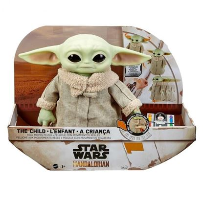 Picture of BABY YODA PELUCHE + CONTROL REMOTO  28 CM STAR WARS