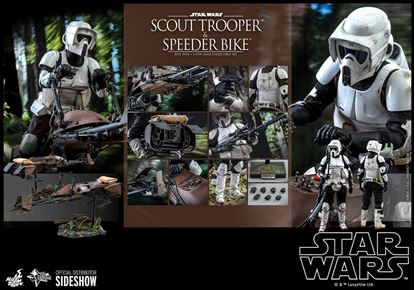 Picture of Star Wars Episode VI Figura 1/6 Scout Trooper & Speeder Bike 30 cm