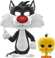 Picture of Looney Tunes Set POP! & Camiseta Sylvester & Tweety Flocked - Camiseta Talla L