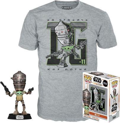 Picture of Star Wars The Mandalorian POP! & Camiseta Set The Child in Satchel IG-11 - Camiseta Talla L