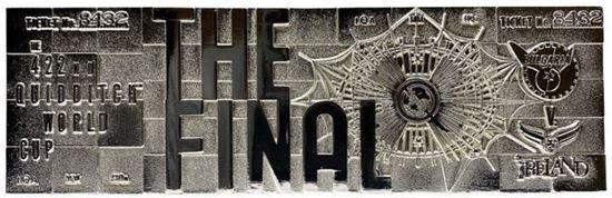 Picture of Réplica Ticket Final Copa Mundial Quidditch Bañado en Plata - Harry Potter