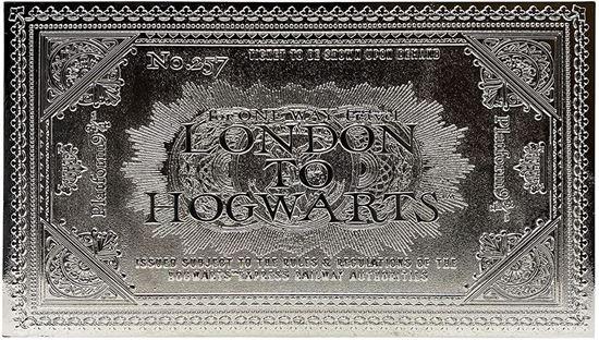 Picture of Réplica Ticket Hogwarts Express Bañado en Plata - Harry Potter