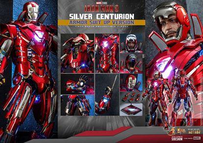 Picture of Iron Man 3 Figura Movie Masterpiece 1/6 Silver Centurion (Armor Suit Up Version) 32 cm RESERVA