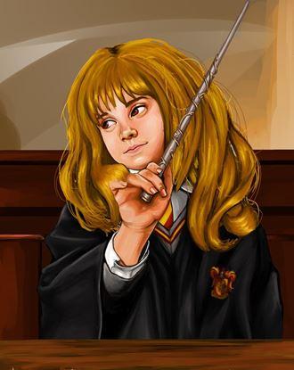 Picture of Ilustración Bruja con Varita - Estudio Kaliope Ilustraciones