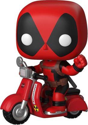 Picture of Deadpool POP! Rides Vinyl Figura Deadpool on Scooter 9 cm